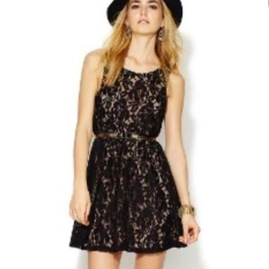 Free People Lace Overlay Dress with Nude Slip XS